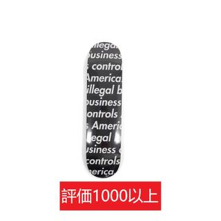 シュプリーム(Supreme)のSupreme Illegal Business Skateboard 黒(スケートボード)