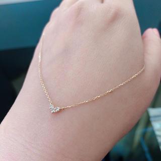 4℃ - 4℃ ピンクゴールドダイヤモンドネックレス