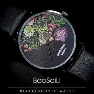 【楽園の花】blossomメンズ レディース レザー 腕時計 ウォッチ