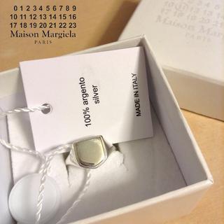 マルタンマルジェラ(Maison Martin Margiela)の新品■S■マルジェラ 19ss■リバーシブル シルバー リング■指輪■6161(リング(指輪))