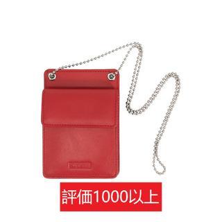 シュプリーム(Supreme)のSupreme Leather ID Holder + Wallet 赤(その他)