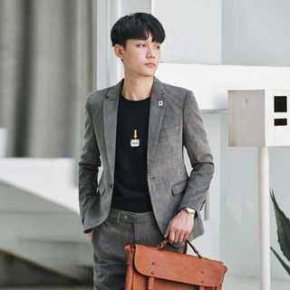 メンズスーツセットアップ大人気エリート細身ビジネス社会人スリム紳士服 OT026(セットアップ)