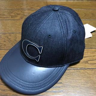 コーチ(COACH)の定価18000円 コーチ 正規 新品 デニム キャップ ユニセックス 帽子(キャップ)