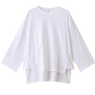 エンフォルド(ENFOLD)の2019SS☆ナゴンスタンス Fine CO サイドガゼットロングTシャツ(Tシャツ/カットソー(七分/長袖))