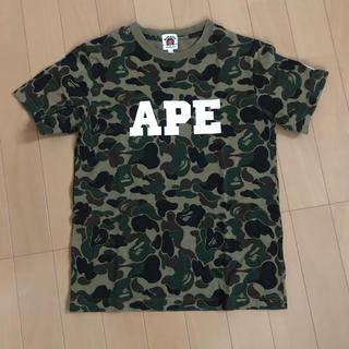 アベイシングエイプ(A BATHING APE)のエイプ キッズ 140 カモフラ グリーン(Tシャツ/カットソー)