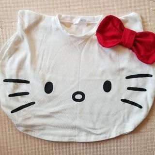 シマムラ(しまむら)のキティちゃん♥️ポンチョTシャツ10㌢(Tシャツ/カットソー)