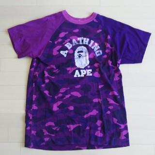 A BATHING APE - アベイシングエイプ クレイジーカモ Tシャツ サイズL