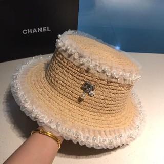 シャネル(CHANEL)のグッチ帽子帽子麦わら帽子(帽子)