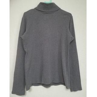 ユニクロ(UNIQLO)のユニクロ  ハイネック XLサイズ ダークグレー(Tシャツ(長袖/七分))
