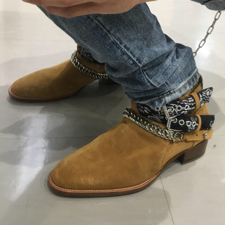 サンローラン(Saint Laurent)のAMIRI バンダナバックルブーツ(ブーツ)