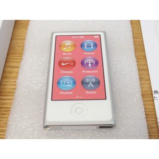 アップル(Apple)の新品 交換品 iPod nano 第7世代 シルバー本体 未使用(ポータブルプレーヤー)