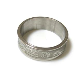 同時購入で300円 ステンレス指輪 マリア 湾曲ライン(リング(指輪))