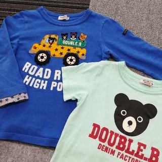 DOUBLE.B - ダブルビー Tシャツ 110㎝