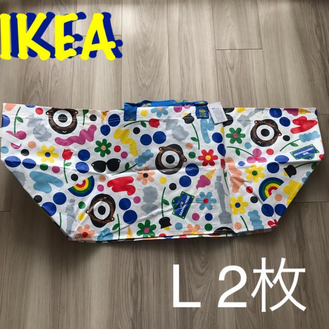 IKEA(イケア)の新品 IKEA バッグ Lサイズ 2枚セット 限定品 レディースのバッグ(エコバッグ)の商品写真