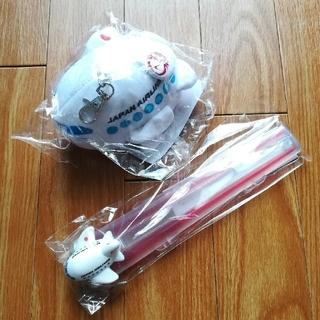 ジャル(ニホンコウクウ)(JAL(日本航空))の新品 JAL 飛行機 パスケース 箸セット(カトラリー/箸)