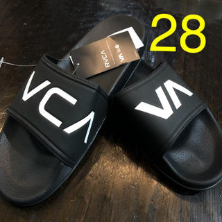 ルーカ(RVCA)の28cm 黒 RVCA ルーカ べナッシサンダル ビーサン シャワーサンダル(サンダル)