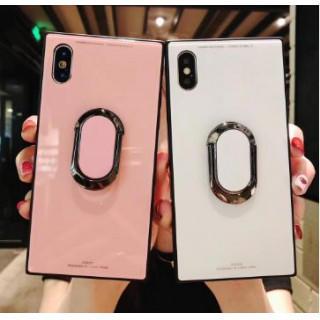 SALE ♡ピンク iPhoneケース リング付き スクエア iPhoneケース