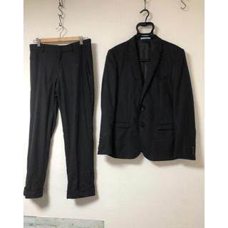 エムエフエディトリアル(m.f.editorial)のスーツ 黒 無 A4 スリムフィット(セットアップ)