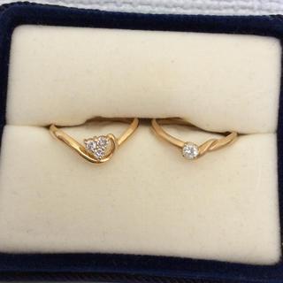 k18 ダイヤモンドリング 9号 10号 セット(リング(指輪))