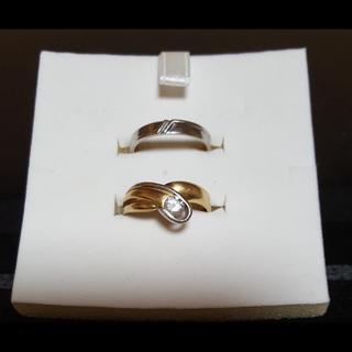 指輪 ダイヤ ホワイトゴールド セット(リング(指輪))
