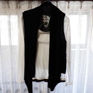 ジレ付 カットソー(Tシャツ/カットソー(七分/長袖))