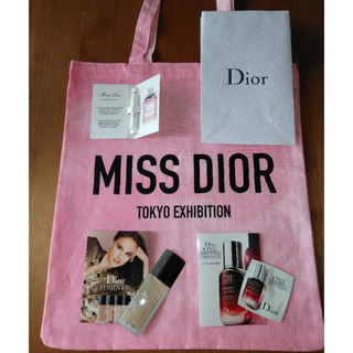 ディオール(Dior)のミスディオール 展示会 トートバッグ ノベルティ サンプル付き(トートバッグ)