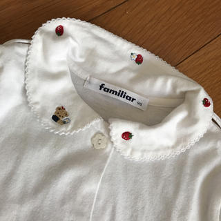 familiar - ファミリア 長袖 シャツ 90 いちご