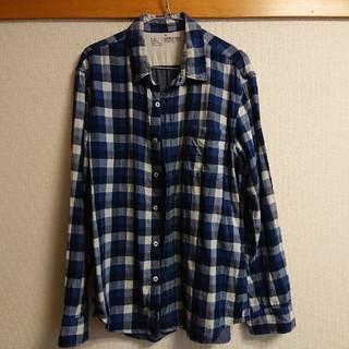 ムジルシリョウヒン(MUJI (無印良品))の無印良品 デニム チェック Yシャツ(シャツ)
