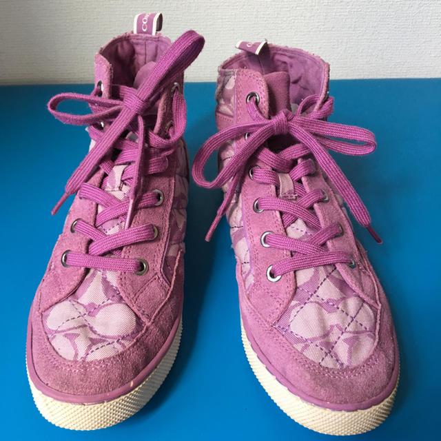 COACH(コーチ)のCOACH ハイカット スニーカー レディースの靴/シューズ(スニーカー)の商品写真