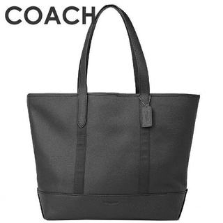 コーチ(COACH)の正規品保証 コーチ ペブルレザー トートバッグ 黒 新品、値札付き(トートバッグ)
