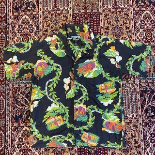 ロンハーマン(Ron Herman)のpatagonia パタロハ 2000年 コットン アロハシャツ 黒 s (シャツ)