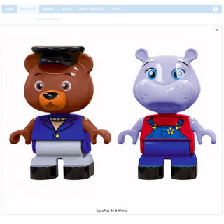 ボーネルンド(BorneLund)のアクアプレイ カバさんとクマさんセット(知育玩具)