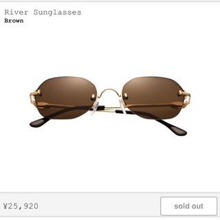 シュプリーム(Supreme)のRiver Sunglasses Brown Supreme サングラス(サングラス/メガネ)