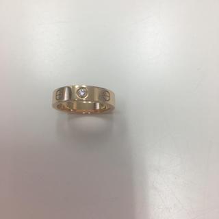 カルティエ(Cartier)のカルティエ ミニラブリング  PG 1Pダイヤ(リング(指輪))