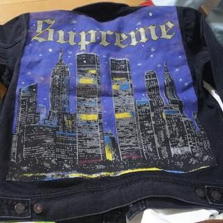 シュプリーム(Supreme)の最終値下げ newyork painted trucker jacket(Gジャン/デニムジャケット)