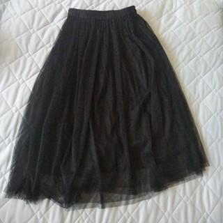 GU - GU 黒チュールスカート