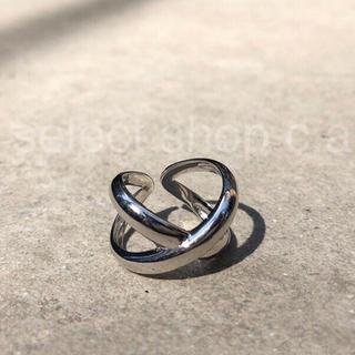 トゥデイフル(TODAYFUL)のsilver925 クロスリング シルバー925 リング(リング(指輪))