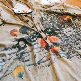 デシグアル(DESIGUAL)の超お洒落 デシグアル ロンT フード付き 新品未使用品(Tシャツ/カットソー(七分/長袖))