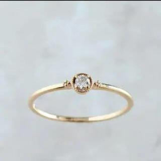 エテ(ete)のノワールドプーペ  K10  ダイヤリング(リング(指輪))