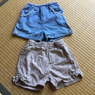 ベルメゾン(ベルメゾン)の女子 ショートパンツ 二枚セット 110cm(パンツ/スパッツ)