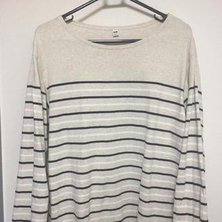 ユニクロ(UNIQLO)のユニクロ 長袖ボーダーシャツ(Tシャツ/カットソー(七分/長袖))