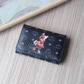 MCM - MCM エムシーエム 三つ折り財布  ブラック