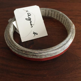 アニエスベー(agnes b.)のagnes.bアニエス・ベー ブレスレット 新品未使用 赤(ブレスレット/バングル)