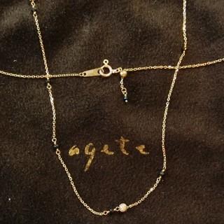 アガット(agete)のアガット ブラックダイヤモンドのK10ネックレス(ネックレス)