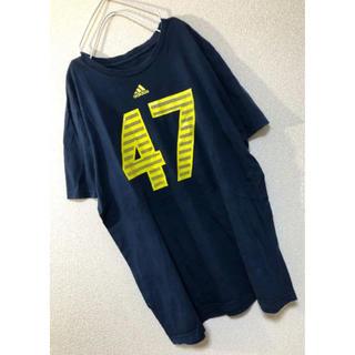 アディダス(adidas)のMsize ☆ adidas uniform number tee (US古着)(Tシャツ/カットソー(半袖/袖なし))