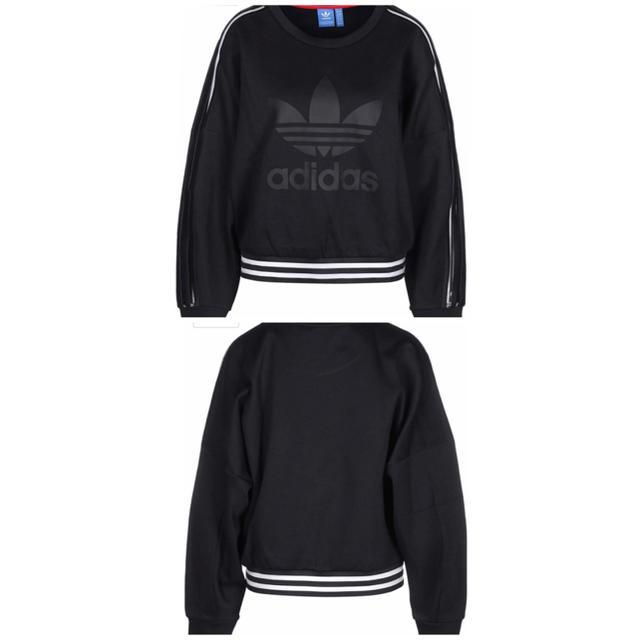 adidas(アディダス)のadidas originals シースルースウェット レディースのトップス(Tシャツ(長袖/七分))の商品写真
