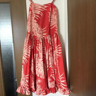 アウラアイラ(AULA AILA)のフラダンス ドレス オレンジ(ダンス/バレエ)
