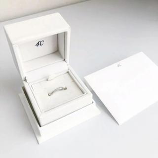 4℃ - 4℃のリング(11号、石付き、刻印あり)
