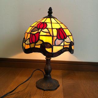 素敵* ステンドグラス バラの花 ランプ ライト アンティーク