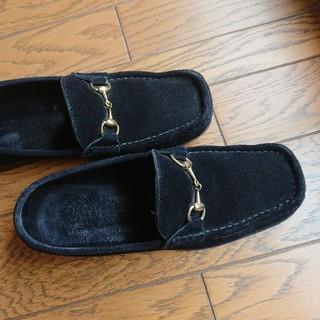Gucci - グッチ ローファー スエード 黒 37サイズ